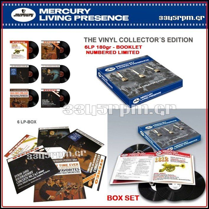 Mercury Living Presence- 6LP 180gr Vinyl Box Set