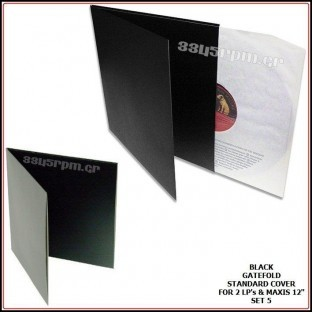 Gatefold Εξώφυλλα δίσκων βινυλίου Μαύρα για 2 LPs -2Maxis 12inch