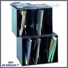 80 δίσκους βινυλίου 7inch - Box 80 45s
