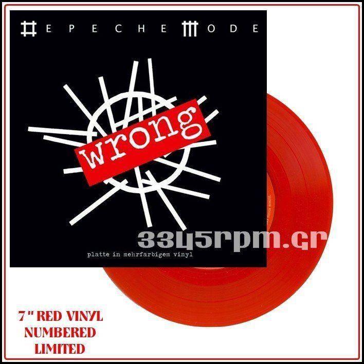 Depeche Mode - Wrong - 7inch Red Vinyl Single