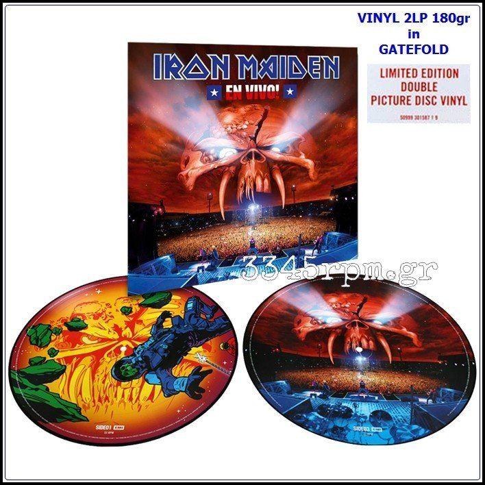 Iron Maiden  - En Vivo! (Best of) -Vinyl 2LP 180gr Picture Disc