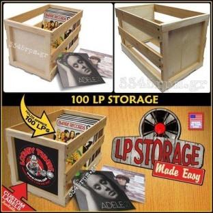 Kουτί αποθήκευσης για Δίσκους Βινυλίου Lp