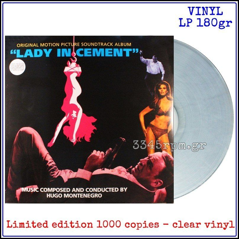 Lady In Cement - OST -  Hugo Montenegro - Clear Vinyl LP 180gr