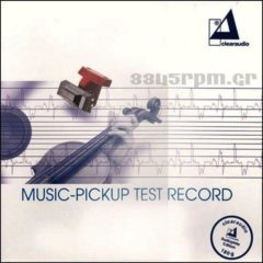 Clearaudio - Music Pickup - Test Record-3345rpm.gr