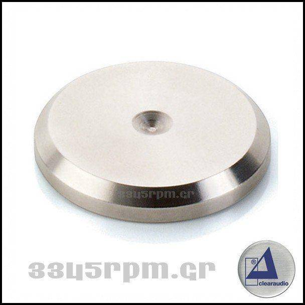 Clearaudio - Flat Pad - stainless steel-3345rpm.gr