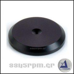 Clearaudio - Flat Pad - acrylic black-3345rpm.gr
