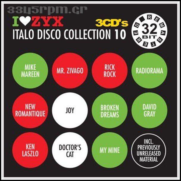 Zyx Italo Disco Collection 10 -  3CDs -3345rpm.gr