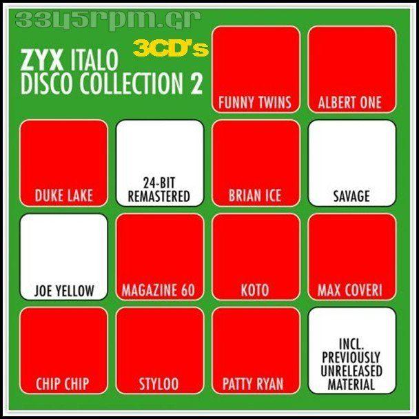 Zyx Italo Disco Collection 2 -  3CDs  ItaloDisco-3345rpm.gr