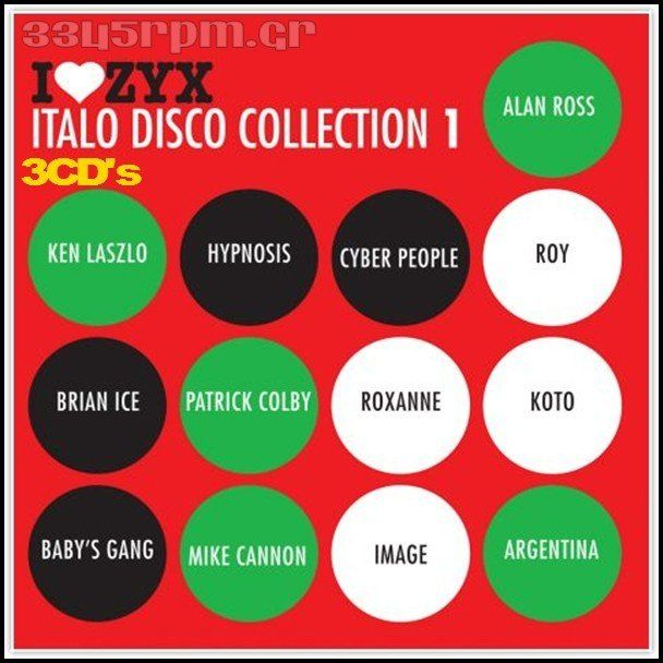 Zyx Italo Disco Collection 1 -  3CDs  ItaloDisco-3345rpm.gr