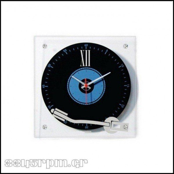 Wall Clock Retro Turntable - 3345rpm.gr