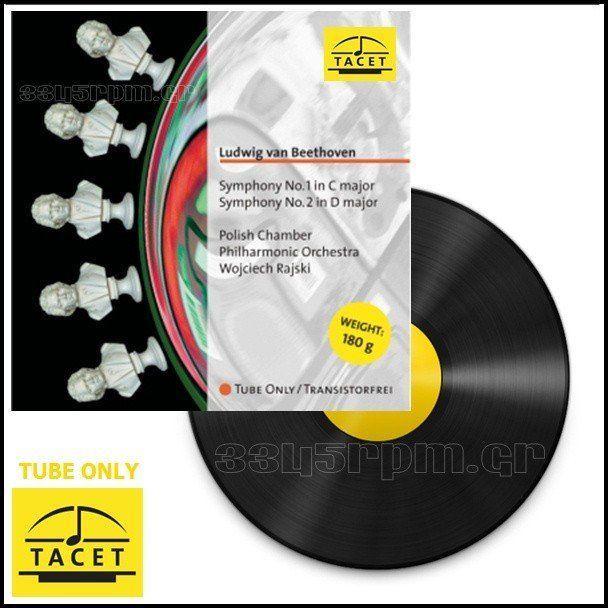 Tacet - Tube Only - Symphony No. 1 & No. 2 - LP Vinyl 180gr - 3345rpm.gr