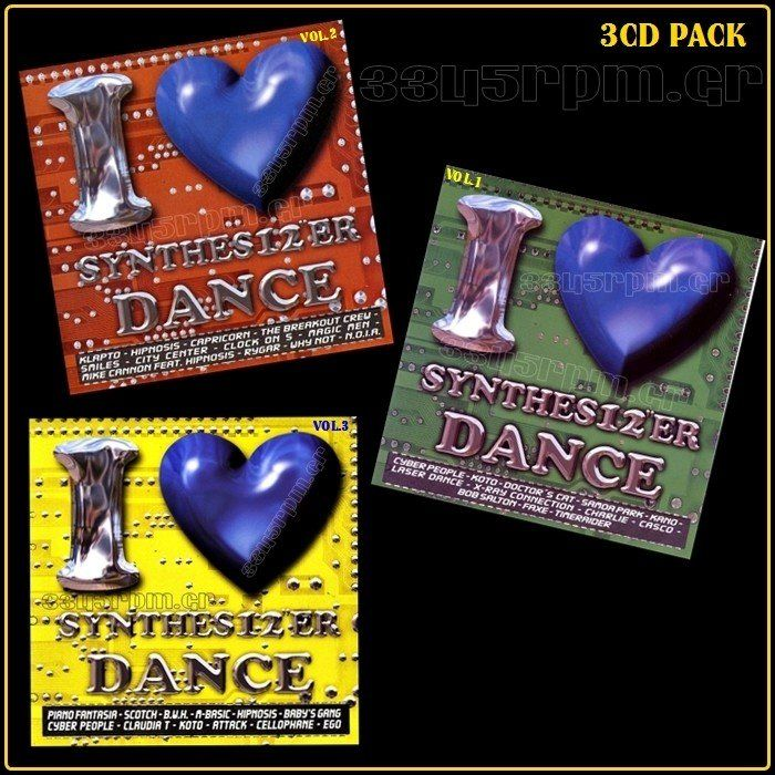I Love Synthesizer Dance Vol.1-2-3 - 3 CD PACK - 3345rpm.gr