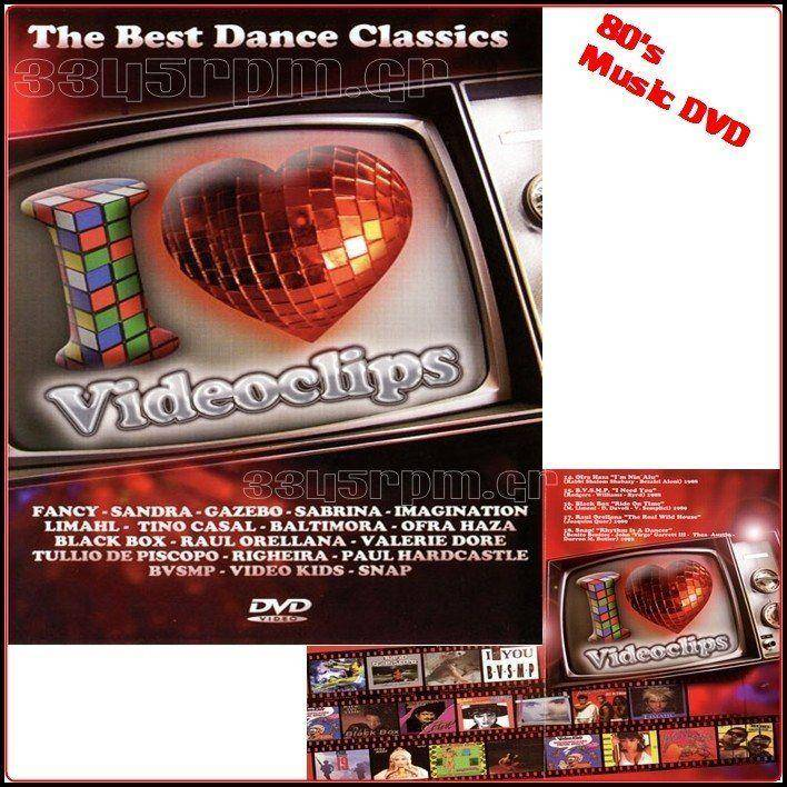 I Love Video clips 80s - Music DVD - 3345rpm.gr