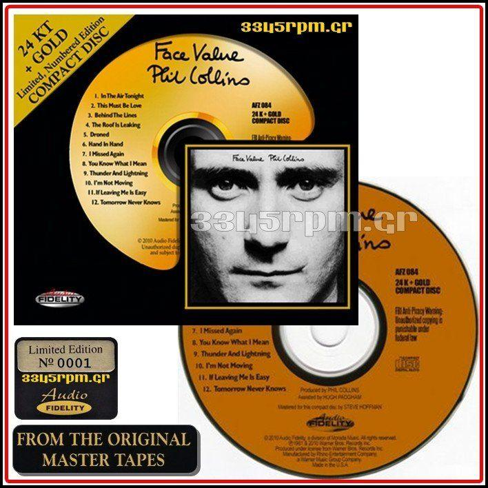 Phil Collins - Face Value - Gold CD 24KT - 3345rpm.gr