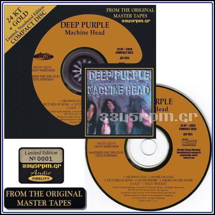 Deep Purple - Machine Head - Gold CD 24KT - 3345rpm.gr