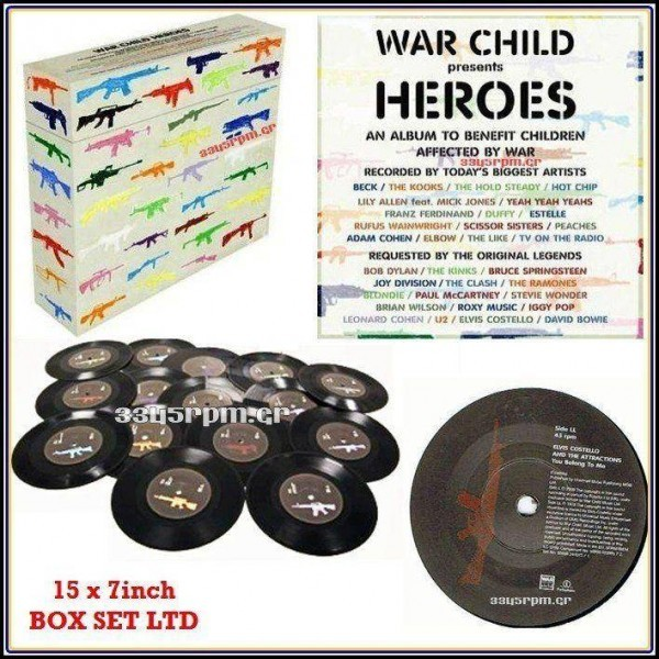 War Child Heroes - 15 x 7inch Box Set Vinyl LTD - 3345rpm.gr