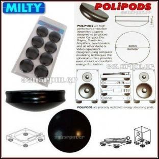 Milty - Polipods - Isolation Feet HiFi -Set 8 - 3345rpm.gr