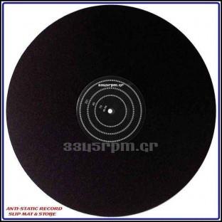 Anti-static Record Slipmat with Strobe- Vinyl Aid - 3345rpm.gr