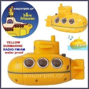 Yellow Submarine- Radio FM - AM waterproof
