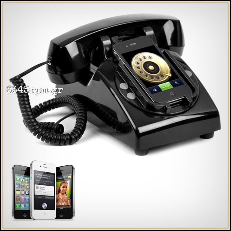 Classic Phone Handset Dock Stand for iPhone