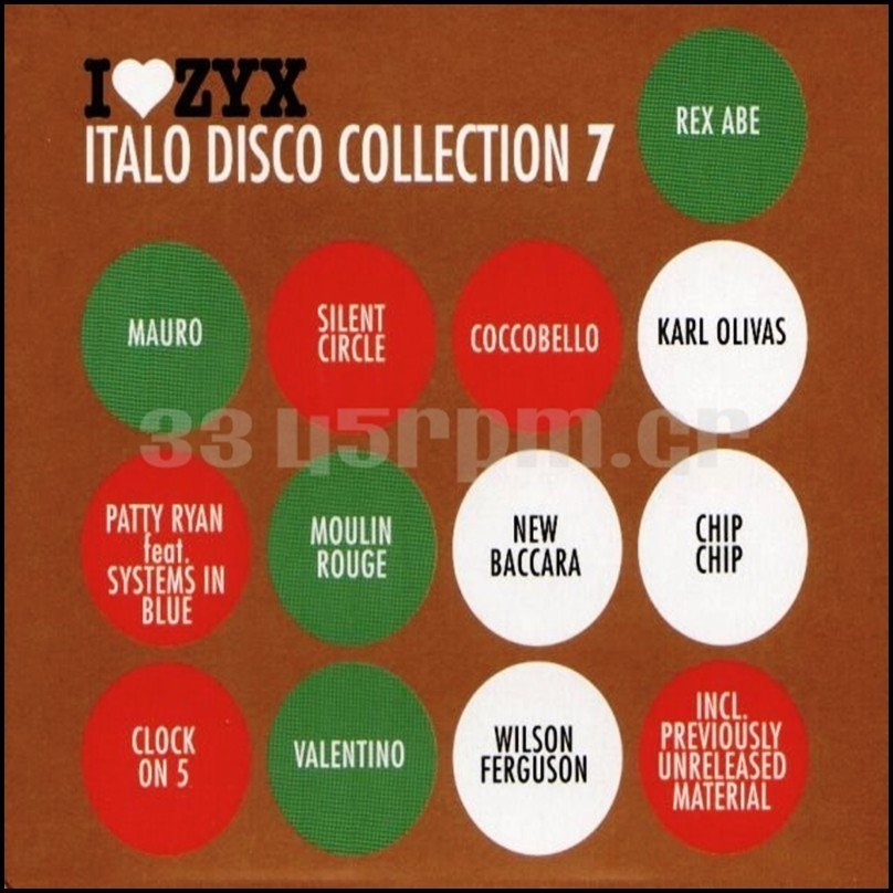 I Love ZYX Italo Disco Collection 7 - 3cd Italodisco-