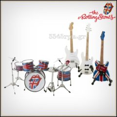 Rolling Stones Mini Guitars and Drums Set