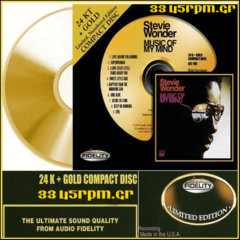 Stevie Wonder - Music of My Mind - 24K Gold CD-