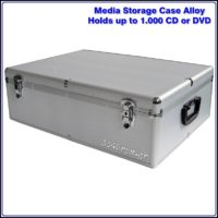 Storage Aluminum Hard Case for 1000 CD-DVD, 3345rpm.gr