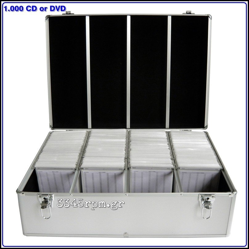 Storage Aluminum Hard Case for 1000 CD_DVD, 3345rpm.gr