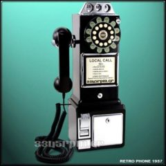 Vintage Pay Phone Replica 1950, 3345rpm.gr