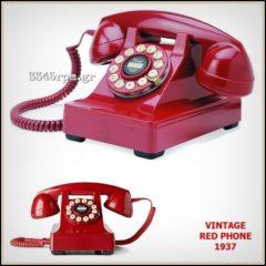 Vintage Red Phone 1937