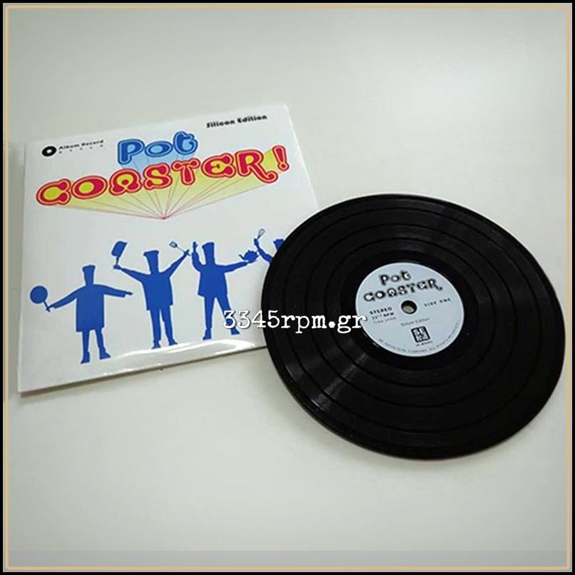 Vinyl Record Pot Coaster 15cm