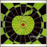 Beatles Apple Label Matchplay Dartboard-