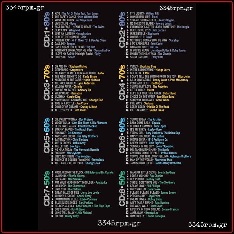 80 70 60 50 Super Hits Collection 8 Cd Box Set 3345rpm