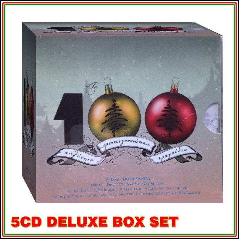 The 100 Best Christmas Songs - 5 CD Box set, 3345rpm.gr