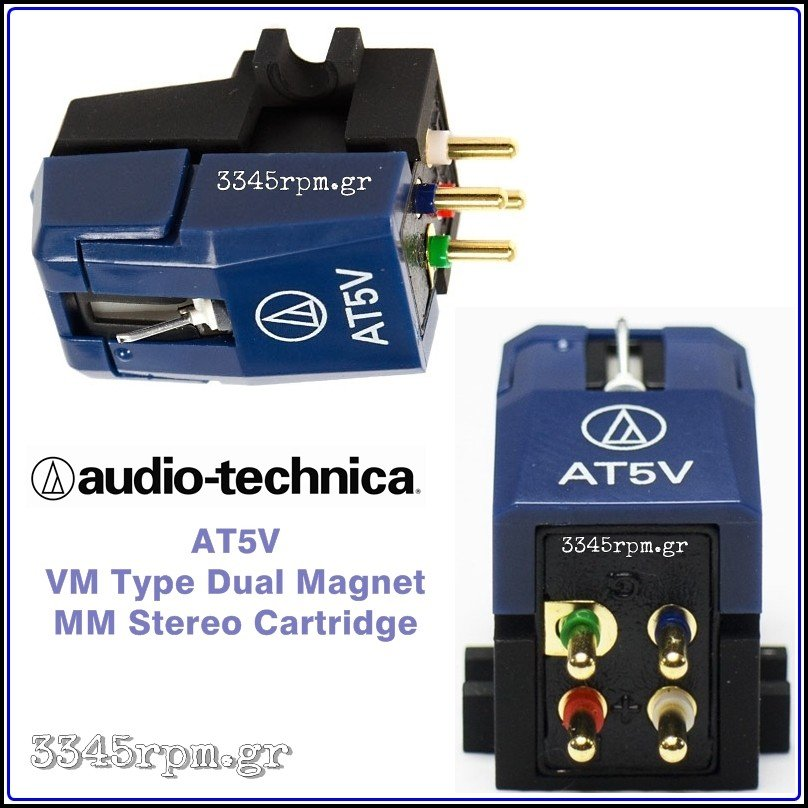 Audio Technica AT5V MM Cartridge, 3345rpm.gr