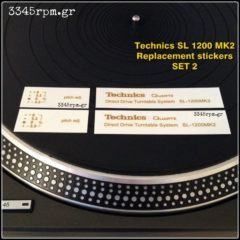 Technics SL 1200 MK2  Logo replacement stickers Gold, 3345rpm.gr