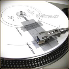 Cartridge alignment Protractor & Stroboscopic disc for turntable - Vinyl Aid