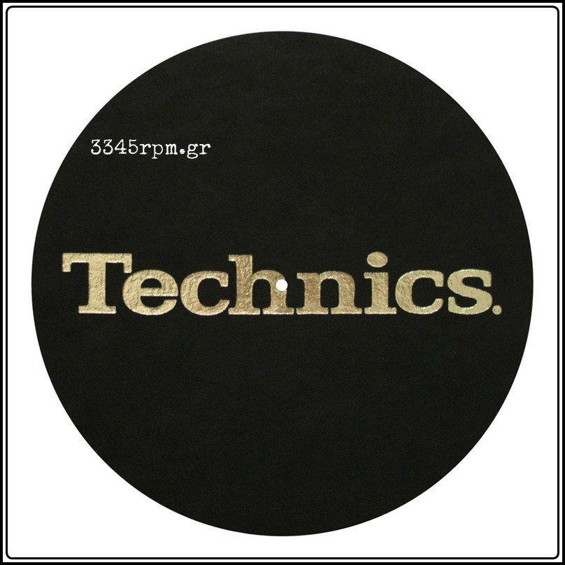 Technics Slipmat BLACK-GOLD Logo, 3345rpm.gr