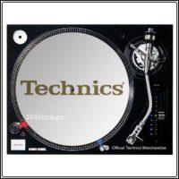 Technics Slipmat WHITE_GOLD Logo, 3345rpm.gr