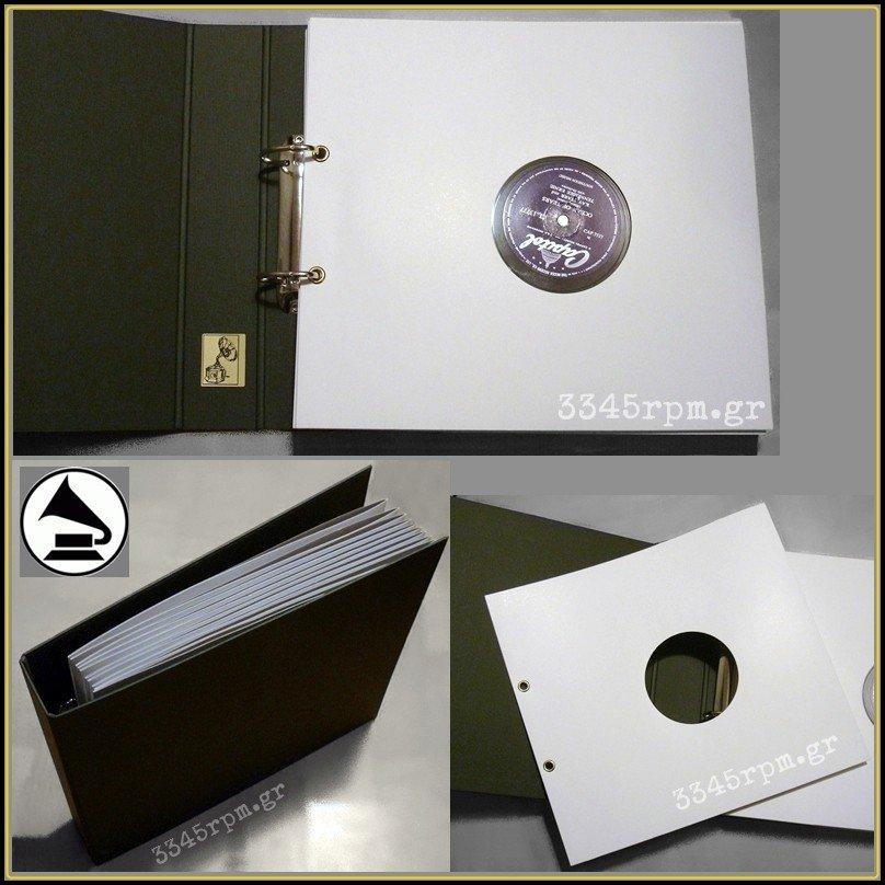 Storage Album Shellac Gramophone Records 78rpm 10inch
