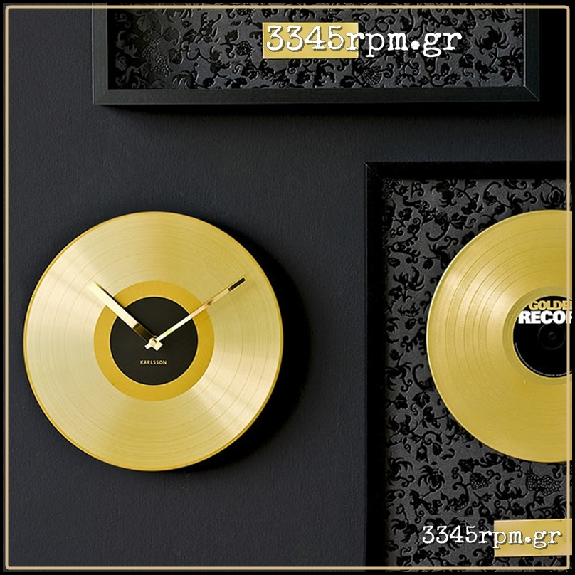 Gold Record 12inch Wall Clock