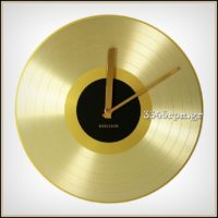 Gold Record 12inch Wall Clock_