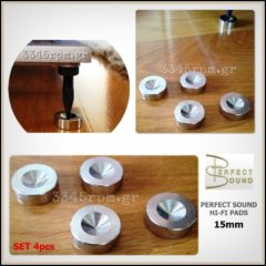 Perfect Sound Hi-Fi Pad - Stainless steel Pads Set 4