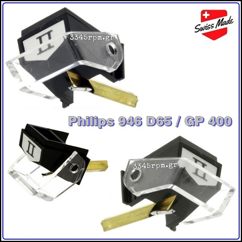 Philips 946 D65 - GP 400 Diamond Stylus for turntable, 3345rpm.gr