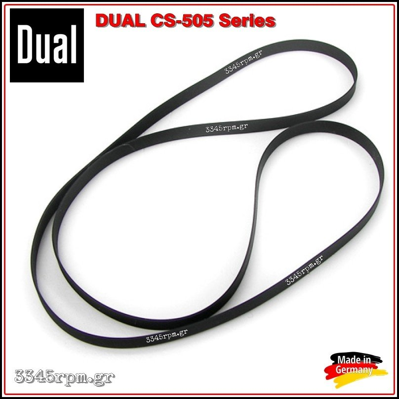 Dual CS 505 Turntable Belt replacement, 3345rpm.gr