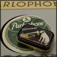 Gramophone needle tin Storage Box - Victor RCA, 334rpm.gr