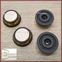 Perfect Sound  Damper Feet for Loudspeakers, Turntable, Hi-Fi - SET 4 -Gold, 3345rpm.gr