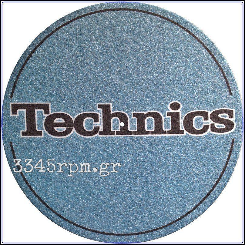 Technics Metallic Blue Slipmat 3345rpm