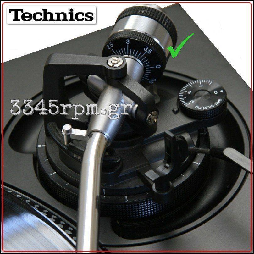 technics sl 1200mk2 tone arm counter weight balance weight 3345rpm